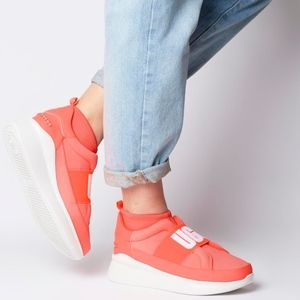 UGG Neutra Neon Coral Platform Sneakers 🦄